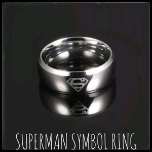 Jewelry - Superman Steel Ring, Unisex, NWT